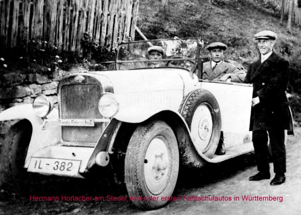 Erstes Fahrschulauto Württemberg