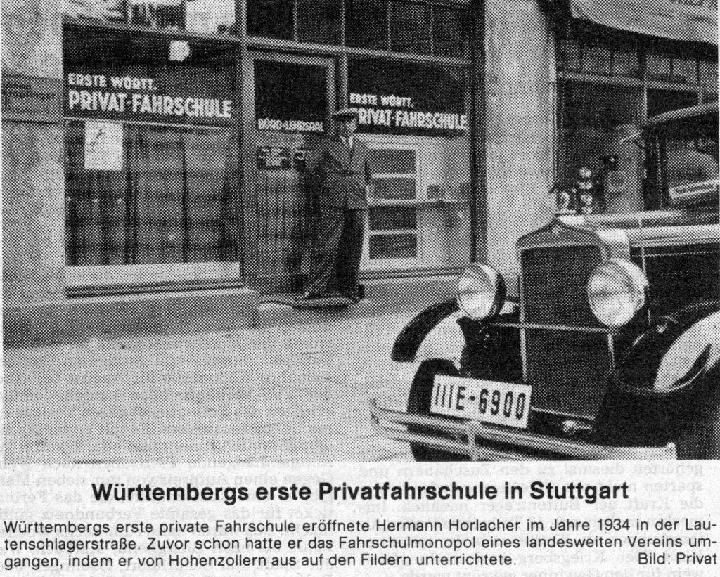 Erste württembergische Privatfahrschule